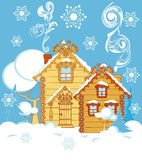 Houses in winter Stock Photography