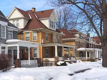 Houses in winter Royalty Free Stock Photography