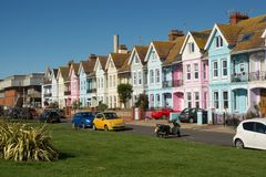 Houses on Worthing Seafront, Sussex, England Royalty Free Stock Image
