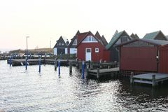 The houses for yachts and  boats Royalty Free Stock Photography