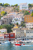 Houses and yachts - Greece Islands Stock Photography