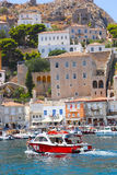 Houses and yachts - Greece Islands Royalty Free Stock Image