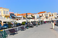 Houses and yachts - Greece Islands Royalty Free Stock Photos