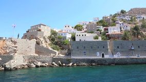 Houses and yachts - Greece Islands stock video footage