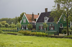 Houses at Zaanse Schans, Holland Royalty Free Stock Photo