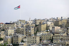 Housese à Amman en Jordanie Image libre de droits