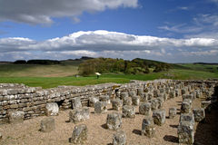Housesteads Fort. Housesteads Roman Fort on Hadrians Wall Northumberland Royalty Free Stock Photography