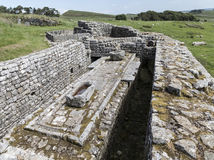 Housesteads Fort. Latrine at Housesteads Roman Fort on Hadrians Wall Royalty Free Stock Photos