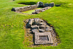 Housesteads Roman Fort. Part of the ruins of the Housesteads Roman Fort at the Hadrian's Wall Stock Photos