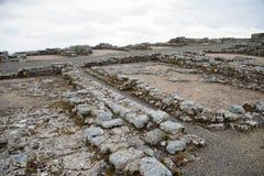 Housesteads Roman Fort, Hadrian& x27; s-vägg royaltyfria bilder