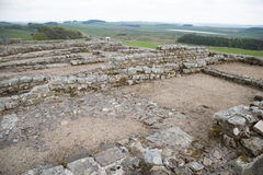 Housesteads Roman Fort, Hadrian's Wall Royalty Free Stock Photo