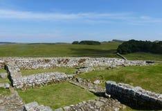 Housesteadsfort en de Muur van Hadrian Stock Afbeelding