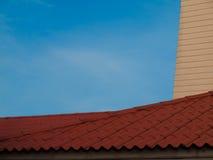 Housetop, εικόνα μιας παλαιάς στέγης στοκ εικόνες
