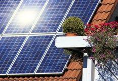housetop ηλιακός στοκ εικόνες με δικαίωμα ελεύθερης χρήσης