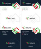 Housetop business card Royalty Free Stock Photos