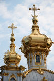 Housetop of Catherine Palace. The housetop of Catherine Palace in czar village of St Petersburg, Russia Royalty Free Stock Photography