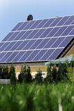 Housetop with solar. Housetop with any solar panels Royalty Free Stock Images