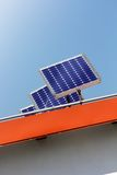 Housetop with solar. Housetop with any solar panels Royalty Free Stock Photos