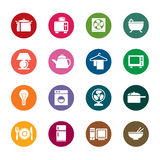 Houseware Color Icons Stock Photography