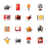 Houseware Colorful Icons Stock Image