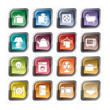 Houseware Icons Royalty Free Stock Photo