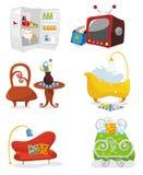 Houseware pictogramreeks stock illustratie