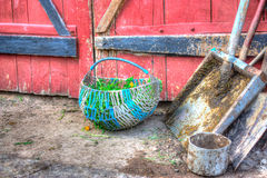 Housewares near the barn Stock Images