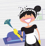 Housewife – french maid Stock Images