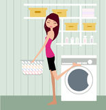 Housewife. Vector illustration of young housewife Stock Images