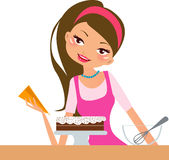 Housewife. Illustration of a cute housewife Stock Photography