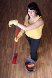 Housewife. Young housewife relax during chores stock photos