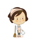 Housewife. A cute  character illustration Stock Image