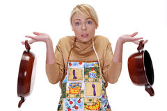 The housewife Royalty Free Stock Photos