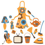 Housewife accessories icon set Stock Photo