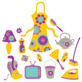 Housewife accessories icon set Stock Photography