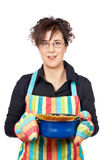 Housewife in apron Royalty Free Stock Photo