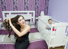 Housewife beauty Stock Photography