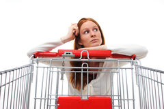 Housewife Choosing Shopping Royalty Free Stock Photos