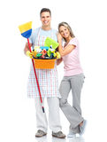 Housewife cleaners. Royalty Free Stock Photo