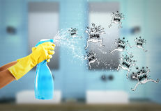 Housewife cleaning spray. 3D Rendering Royalty Free Stock Image