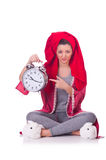 Housewife with clock Stock Photography