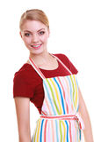 Housewife cook chef in kitchen apron isolated Royalty Free Stock Images