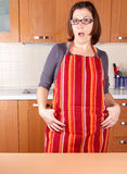 Housewife cooking Royalty Free Stock Photo