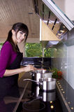 Housewife cooking Royalty Free Stock Image