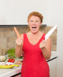 Housewife cooking in the kitchen Royalty Free Stock Photo