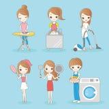 Housewife do housework Stock Photos
