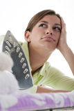 Housewife Fed Up Of Ironing Royalty Free Stock Images