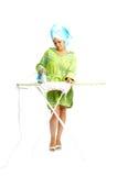 Housewife with flatiron Stock Photography