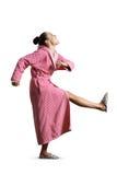 Housewife giving kick Stock Photos