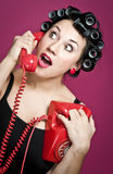 Housewife gossip Royalty Free Stock Image
